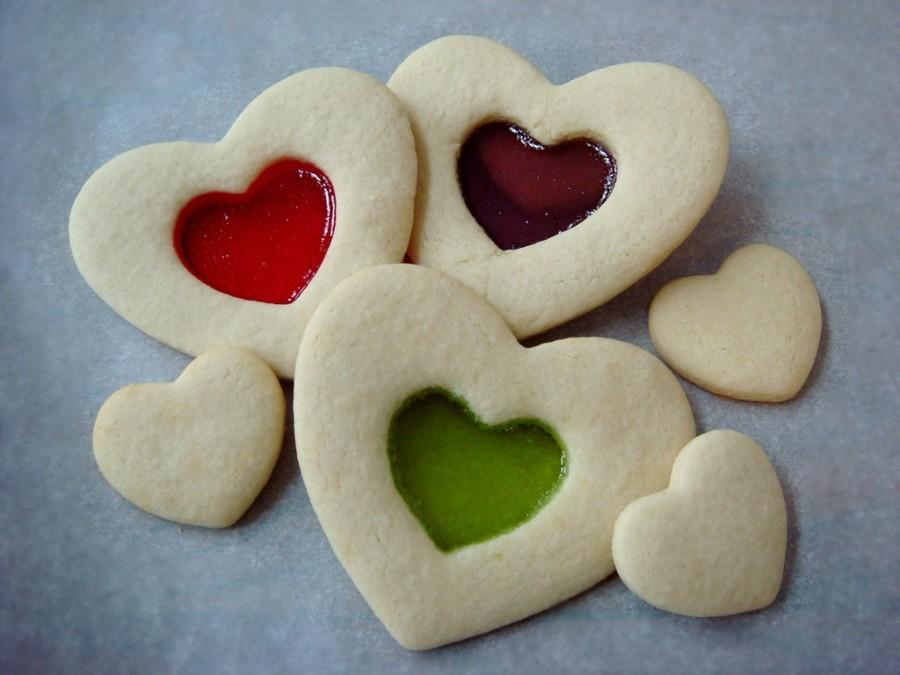 Stained Glass Valentines Day Cookies