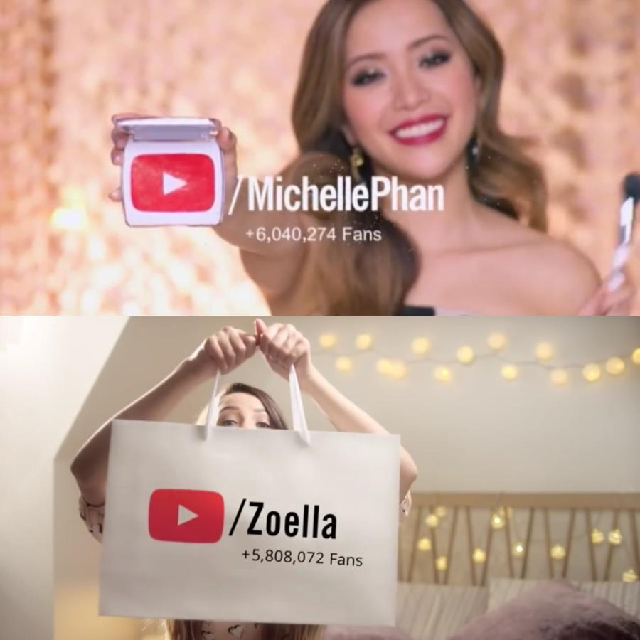 Zoe+Sugg+and+Michelle+Phan%27s+commercials+for++YouTube.+
