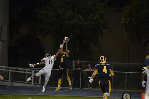 Charles Barnes has a stellar night with 2TDs, 1int, and a blocked punt in the Bobcats first win.