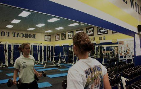 Maria Herrera in weightlifting class
