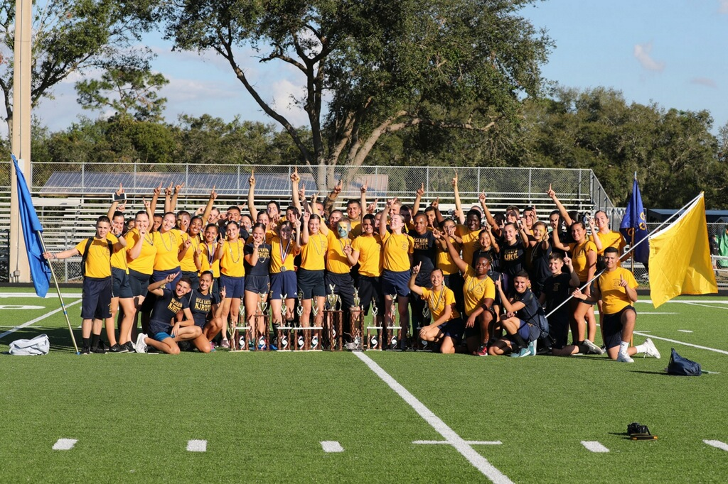ROTC's competition team after winning their Lake Howell Field Mee
