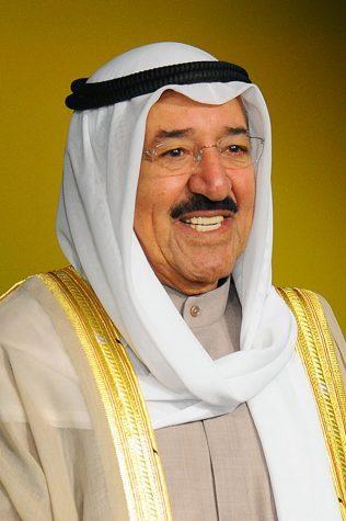The late Emir Sheikh Sabah al-Ahmad al-Jaber al-Sabah. (His name in Arabic: الشيخ صباح الأحمد الجابر الصباح)