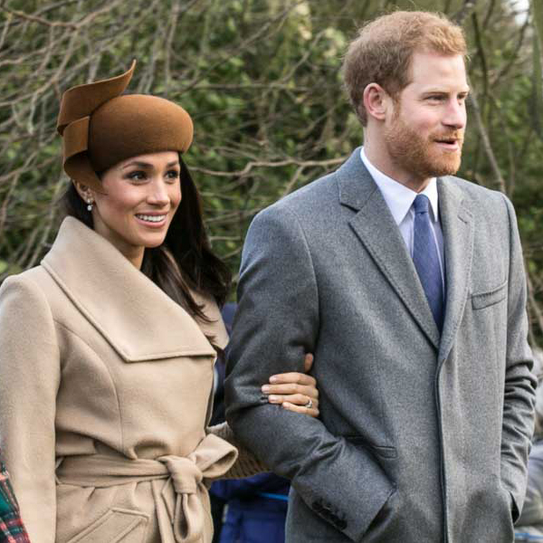 Prince Harry and Meghan Markle before marriage going to church at Sandringham, United Kingdom on Christmas Day in 2017.