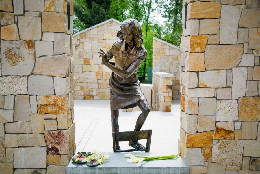An image of the Anne Frank Human Rights Memorial in Boise, Idaho. The very same monument that continues to be defaced with swastikas by anti-semitic persons. (Image Credit: Idaho Statesman)