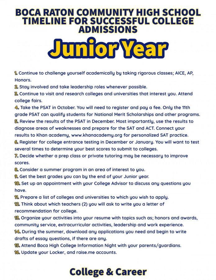 Junior Year Goals