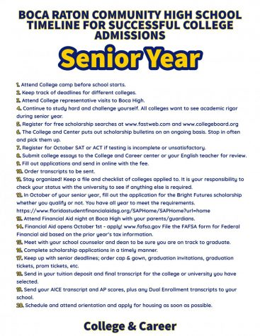 Senior Year Goals