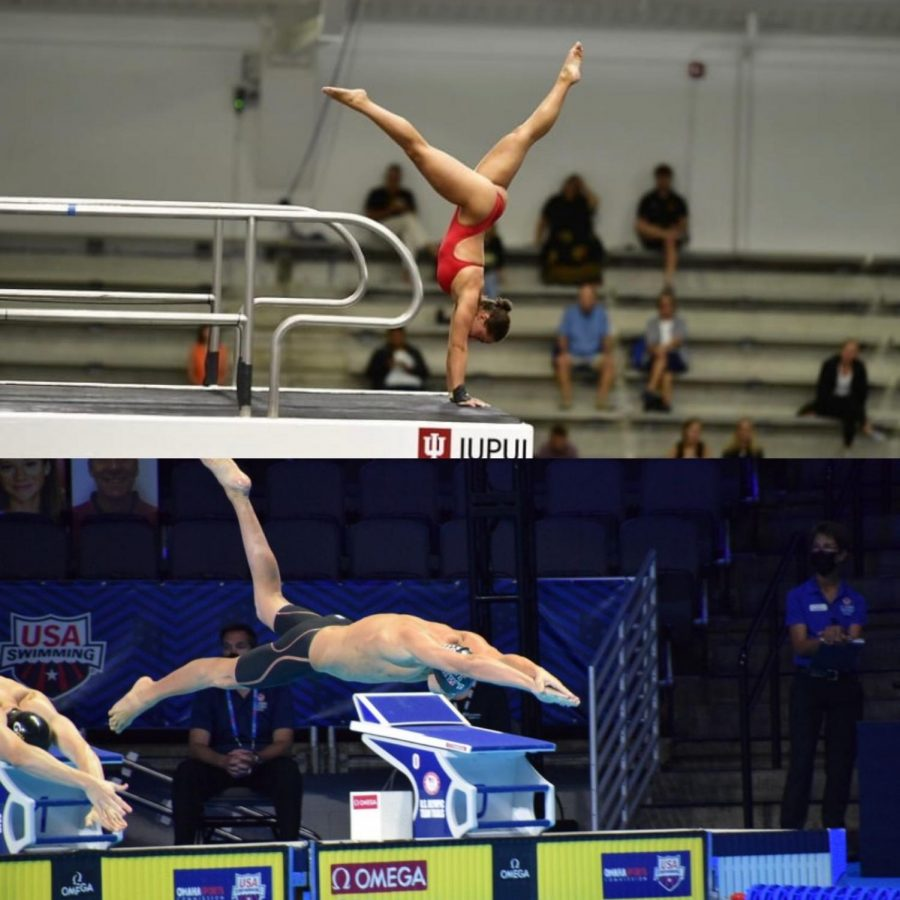 Seniors Emilie Moore and Max Zum Tobel in action at the Olympic Trials 2020.